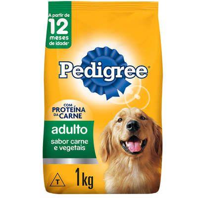 Ração Seca Pedigree Carne e Vegetais para Cães Adultos Raças Médias e Grandes