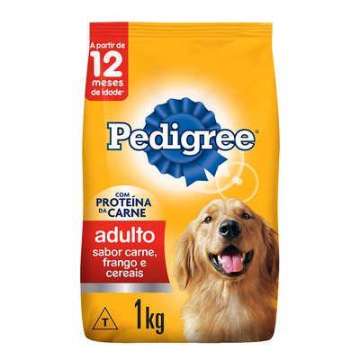 Ração Seca Pedigree Carne, Frango e Cereais para Cães Adultos Raças Médias e Grandes