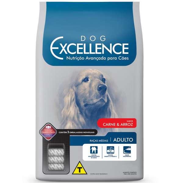 Ração Selecta Dog Excellence Cães Adultos Raças Médias Carne e Arroz