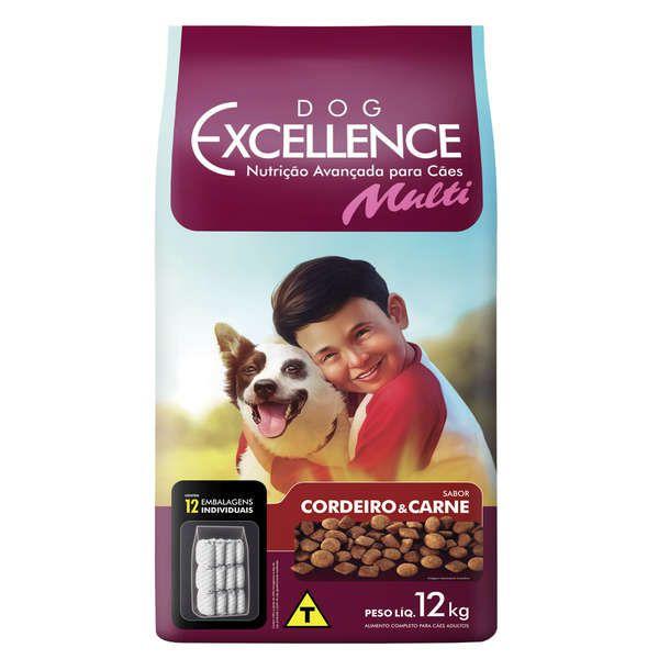 Ração Selecta Dog Excellence Multi Cordeiro e Carne 12 kg