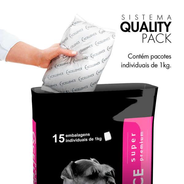 Ração Selecta Dog Excellence Super Premium Cães Adultos Raças Médias Arroz e Frango