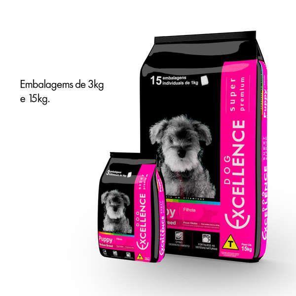 Ração Selecta Dog Excellence Super Premium Cães Filhotes Raças Médias Frango