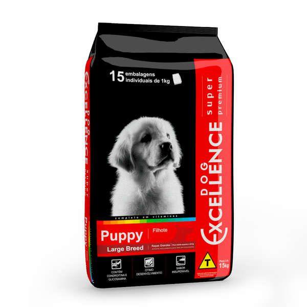 Ração Selecta Dog Excellence Super Premium Filhotes Raças Grandes Arroz e Frango 15 kg