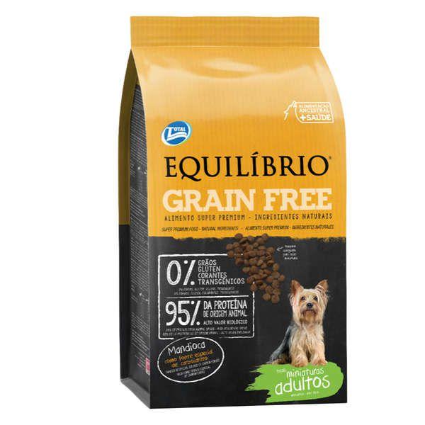 Ração Total Equilíbrio Grain Free para Cães Adultos de Raças Miniaturas