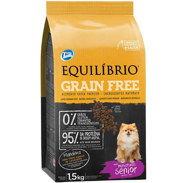 Ração Total Equilíbrio Grain Free para Cães Sênior de Raças Miniaturas - 1,5 Kg