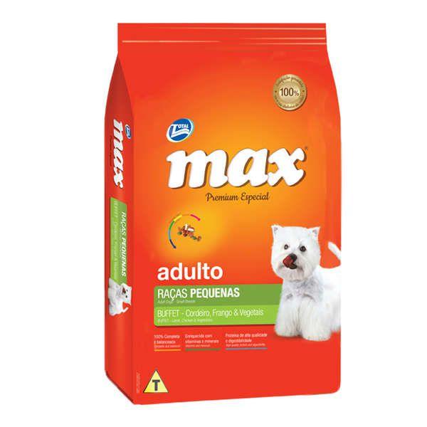 Ração Total Max Buffet Raças Pequenas Cordeiro Frango e Vegetais para Cães Adultos