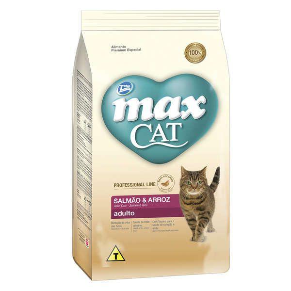 Ração Total Max Cat Line Salmão e Arroz para Gatos Adultos