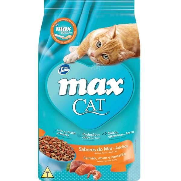 Ração Total Max Cat Sabores do Mar para Gatos Adultos