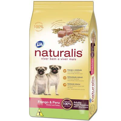Ração Total Naturalis Frango e Peru para Cães Adultos Raças Pequenas
