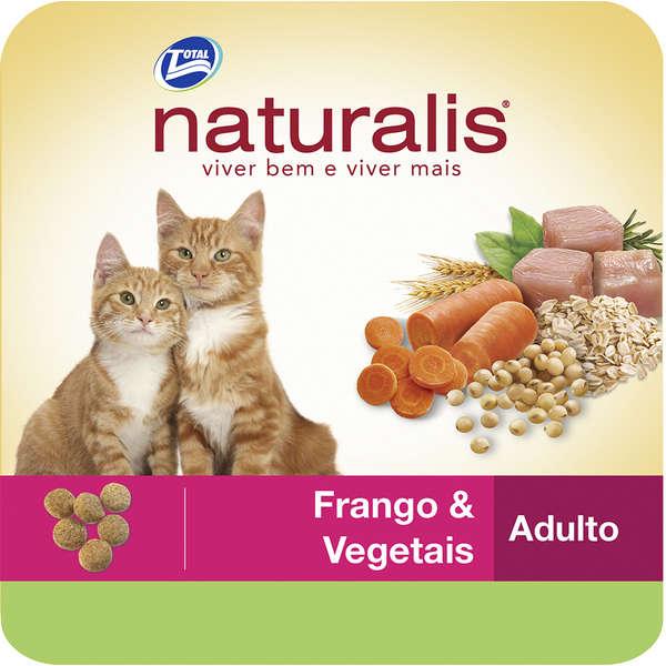 Ração Total Naturalis Frango e Vegetais para Gatos Adultos