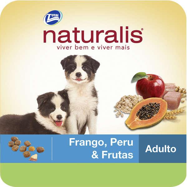 Ração Total Naturalis Frango, Peru e Frutas para Cães Filhotes