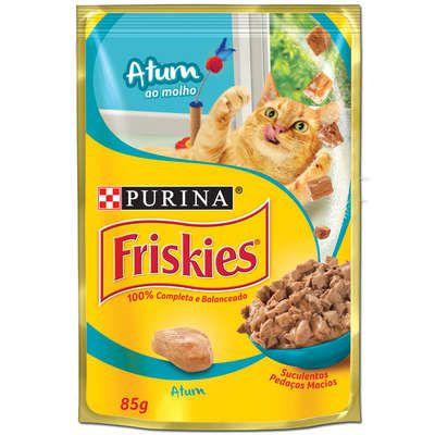 Ração Úmida Nestlé Purina Friskies Atum ao Molho para Gatos Adultos - 85g