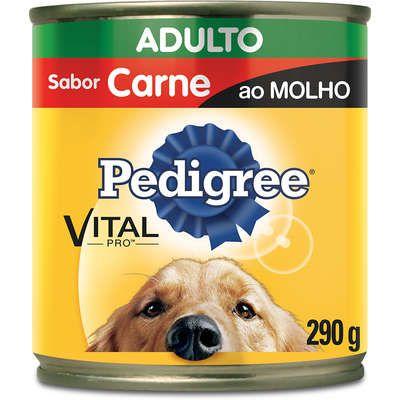 Ração Úmida Pedigree Lata Carne ao Molho para Cães Adultos - 290 g