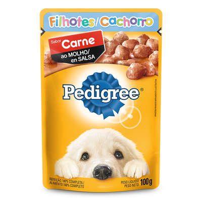 Ração Úmida Pedigree Sachê Carne ao Molho para Cães Filhotes - 100 g