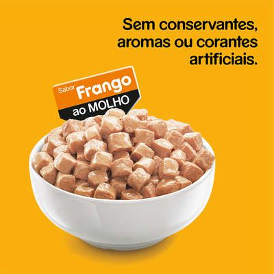 Ração Úmida Pedigree Sachê Frango ao Molho para Cães Filhotes - 100 g