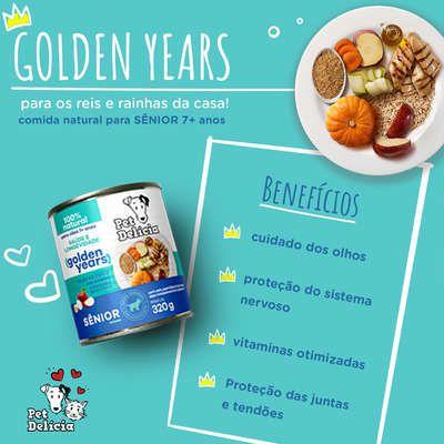 Ração Úmida Pet Delícia Natural Golden Years para Cães 7+ anos 320 g