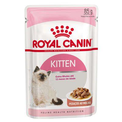 Ração Úmida Royal Canin Sachê Feline Kitten Instinctive para Gatos Filhotes - 85g