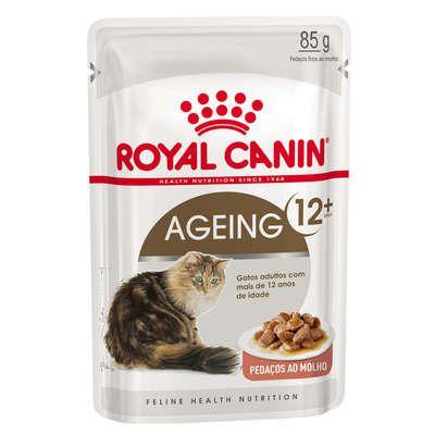 Ração Úmida Royal Canin Sachê Feline Health Nutrition Ageing +12 para Gatos Idosos - 85 g