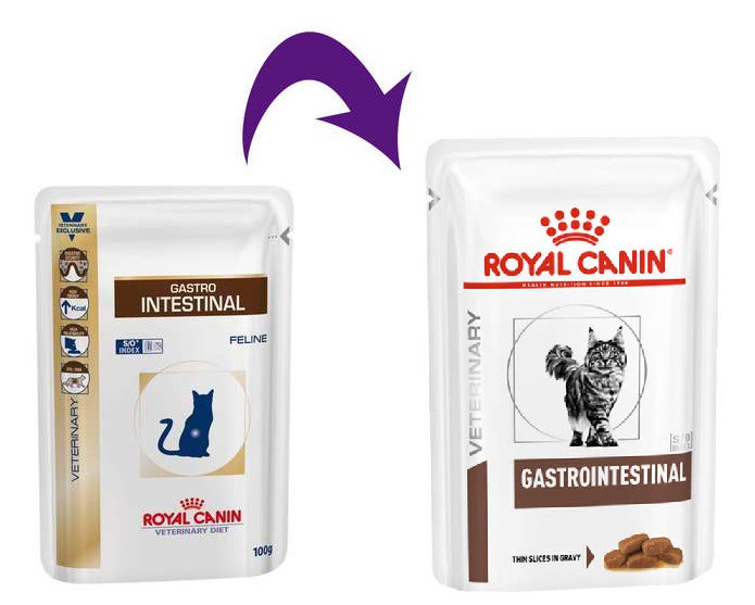 Ração Úmida Royal Canin Feline Veterinary Diet S/O Index Gastrointestinal para Gatos - 85g