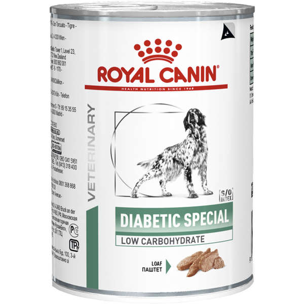Ração Úmida Royal Canin Lata Canine Veterinary Diet Diabetic Especial Low Carbohidrat Wet - 410 g