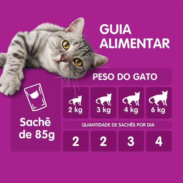 Ração Úmida Whiskas Sachê Cordeiro ao Molho para Gatos Adultos 85 g