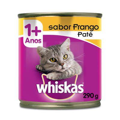 Ração Whiskas Lata Patê de Frango - 290 g