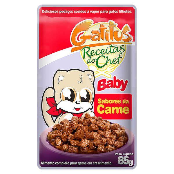 Sachê Gatitus Receitas do Chef Baby Sabores da Carne