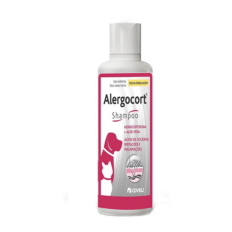 Shampoo Antialérgico Coveli Alergocort - 200 mL