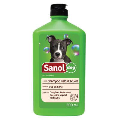 Shampoo Sanol Dog Pelos Escuros - 500 mL