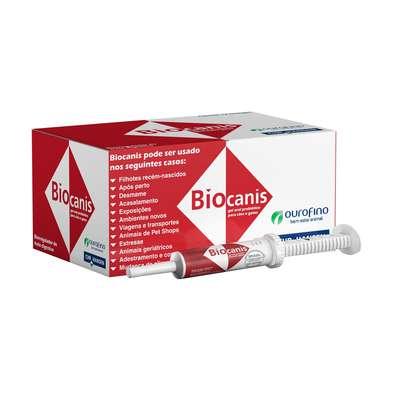 Suplemento Probiótico Ourofino Biocanis para Cães e Gatos - 14 g