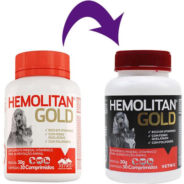 Suplemento Vetnil Hemolitan Gold 30 g - 30 Comprimidos