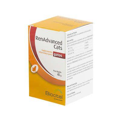 Suplemento Vitamínico Candioli RenAdvanced Cats Tratamento Renal 40 g