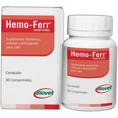 Suplemento Vitamínico HemoFerr Biovet 30 Comprimidos