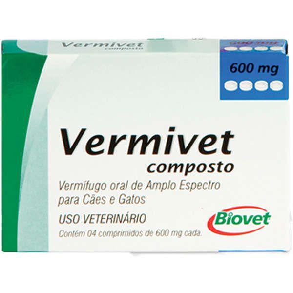Vermífugo Biovet Vermivet Composto 600 mg