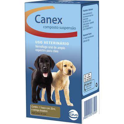 Vermífugo Ceva Canex Composto Suspensão para Cães 20 ml