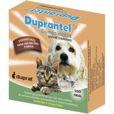 Vermífugo Duprat Duprantel Comprimidos para Cães e Gatos 4 comprimidos