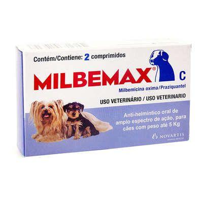 Vermífugo Novartis Milbemax C para Cães - 2 Comprimidos