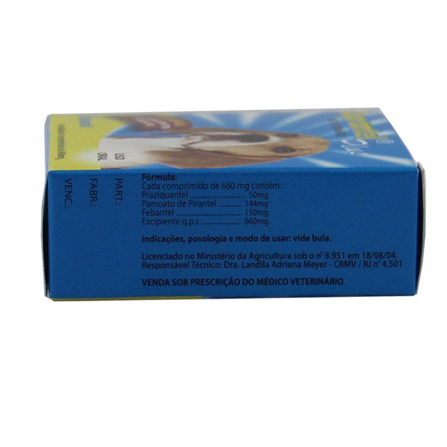 Vermífugo para Cães até 10kg Duprantel Plus - 4 Comprimidos