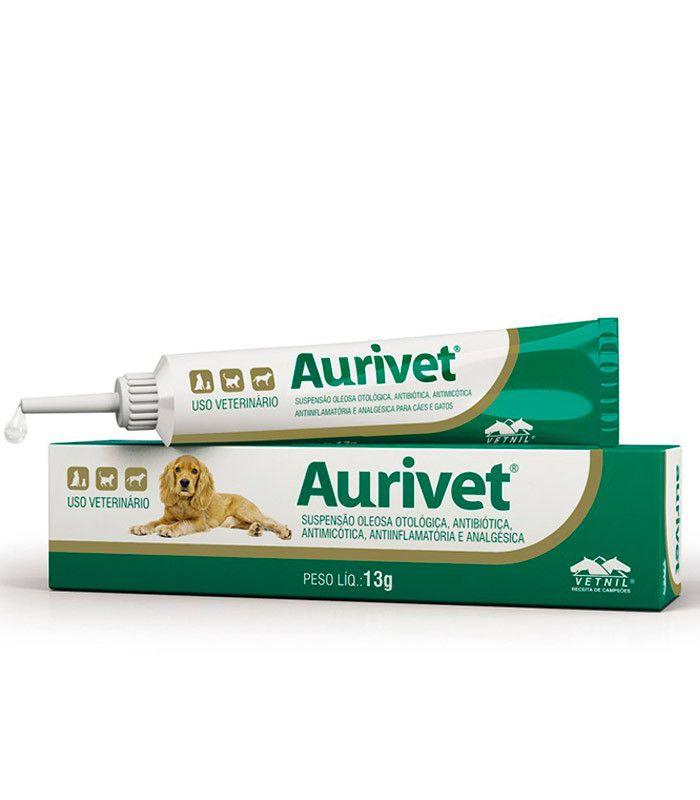 Suspensão Oleosa Otológica Vetnil Aurivet - 13 g