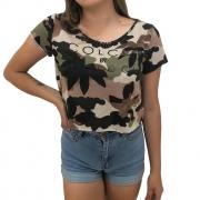 Blusa Colcci Camuflada Army Feminina