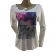 Camiseta Rip Curl Rex Manga Longa Feminina