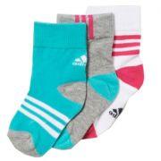 Kit Meia Adidas Ankle Mid Fun Infantil