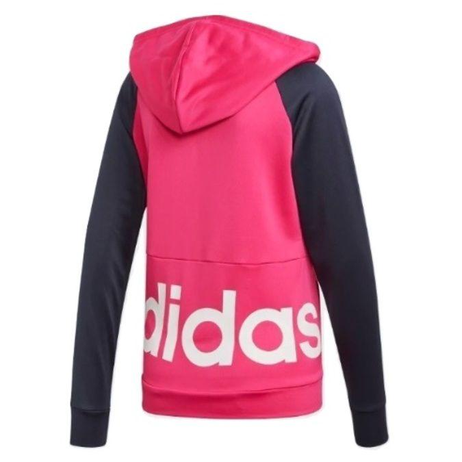 Agasalho Moletinho Adidas Linear Hoodie Feminino