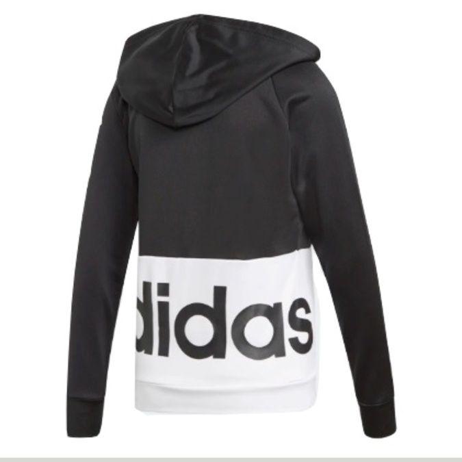 Agasalho Moletinho Adidas Linear Hoops Preto Feminino