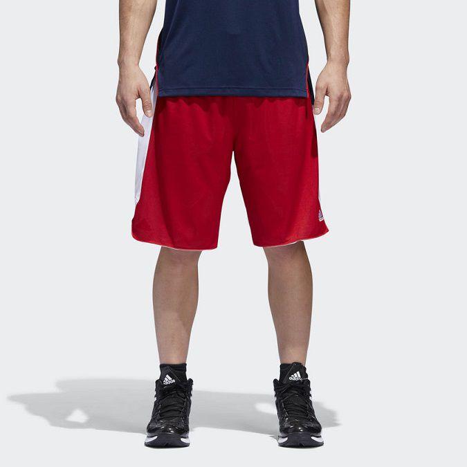 Bermuda Adidas Crazy Explosion Reversível Vermelha