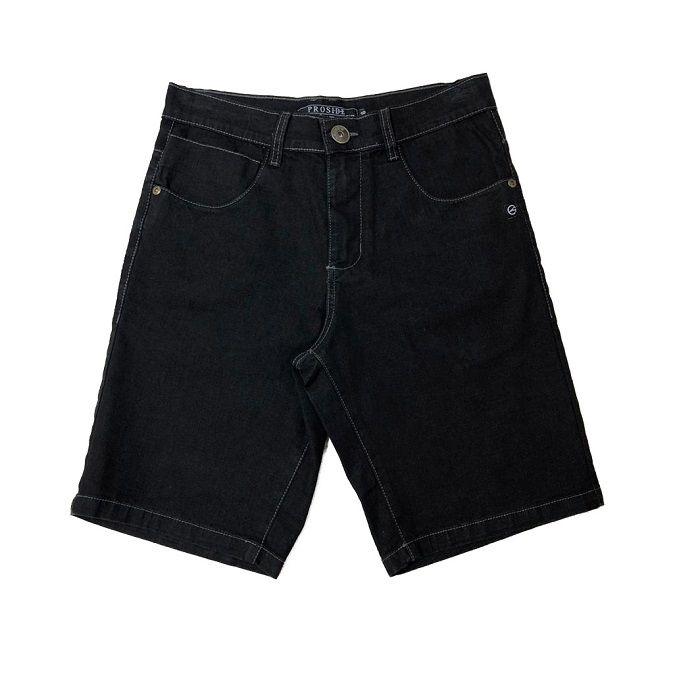 Bermuda Jeans Proside Com Elastano Preta