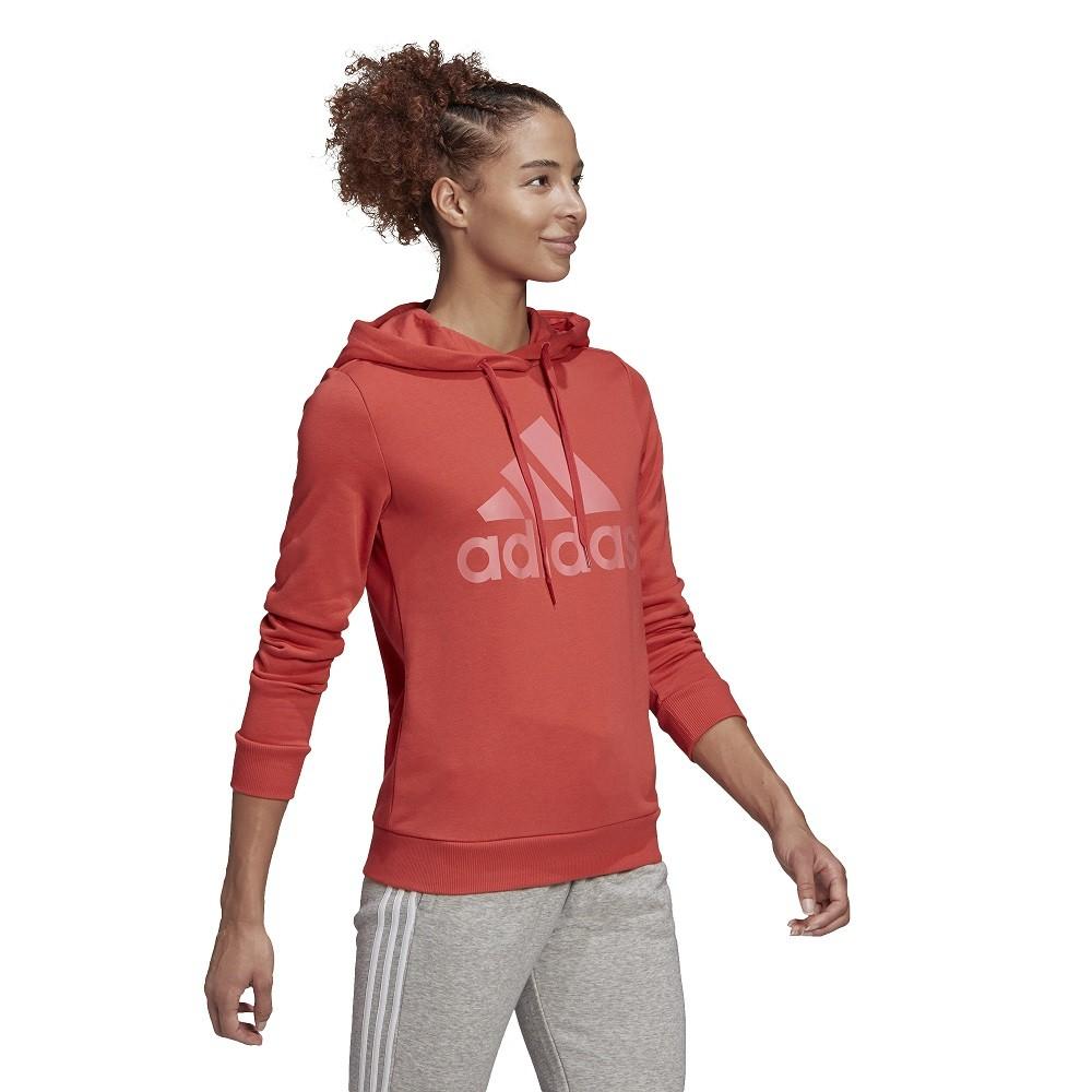 Blusão Moletom Adidas com Capuz Essentials Relaxed Logo