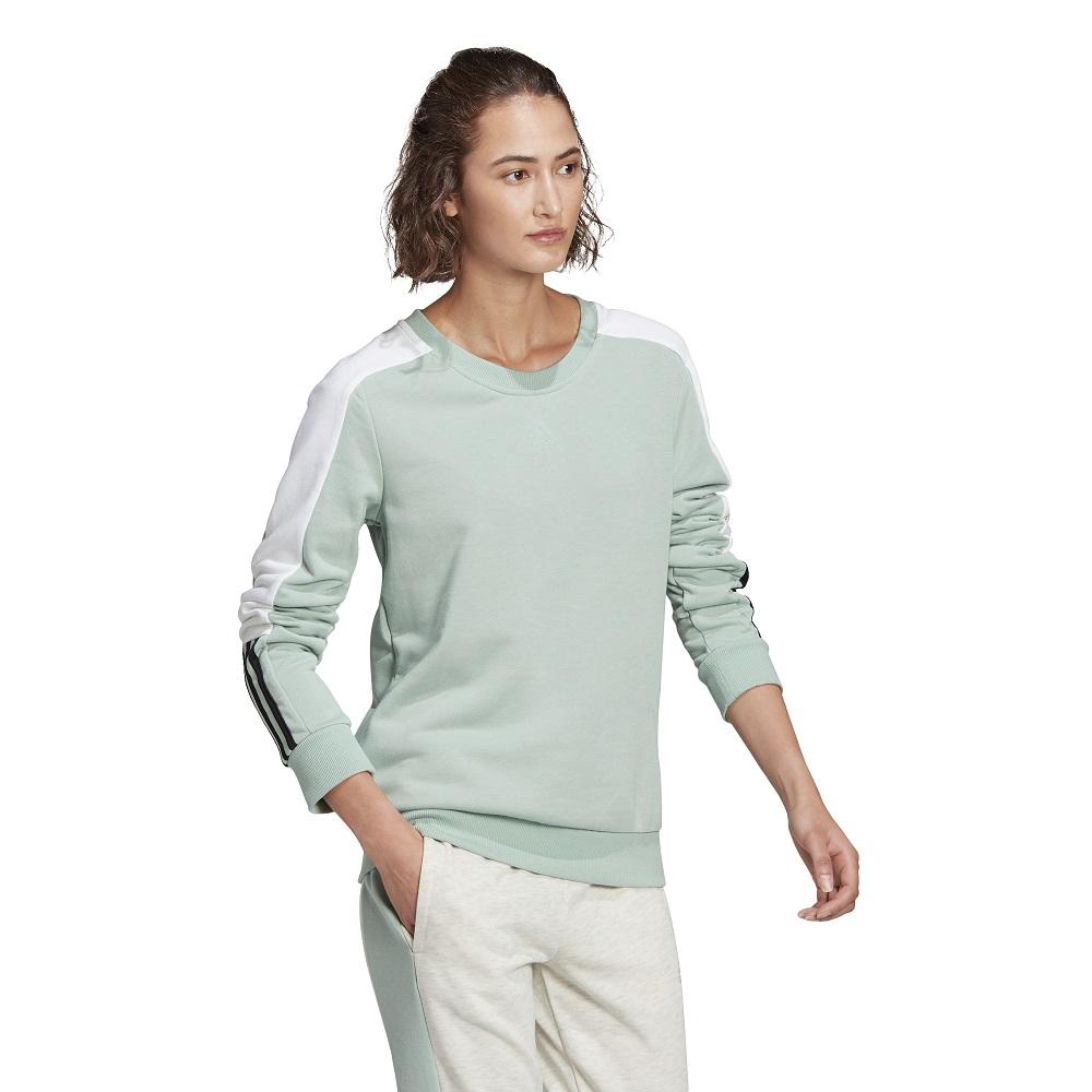 Blusão Moletom Adidas Essentials Logo Colorblock Feminino