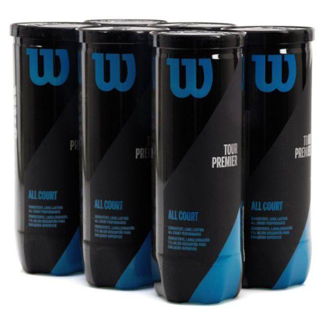 9fa4f2d7e Bola de Tênis Wilson Tour Premier Pack Com 6 Tubos Ref WRT109400 ...