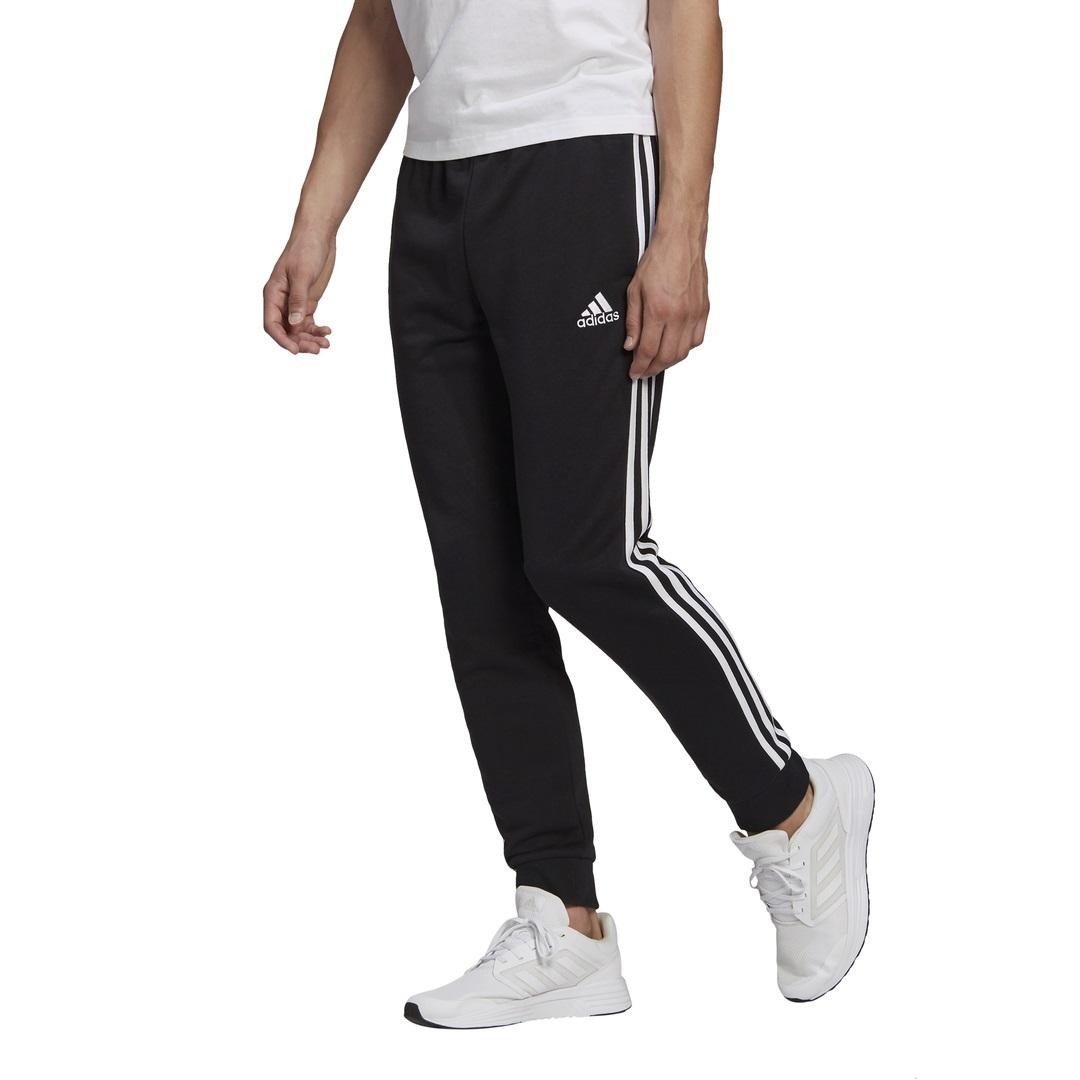 Calça de Moletom Afunilada Adidas Essentials 3-Stripes